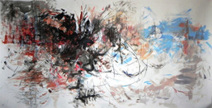 """Rupture"" 2012, 150cm x 297cm, mixed media on paper"