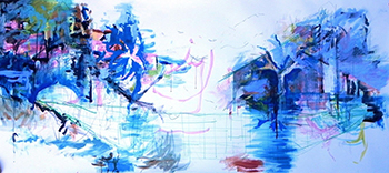 """Esperanza"" 2012, 150cm x 390cm, mixed media on paper"