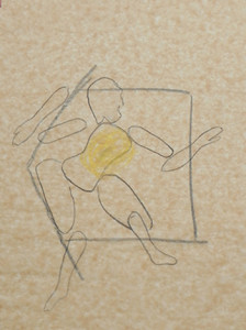 """It Breaks Me Up I"" 2009, 38cm x 29cm, mixed media on paper"