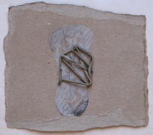 """""""Torso II"""" 2009, 11cm x 12cm , mixed media on paper"""
