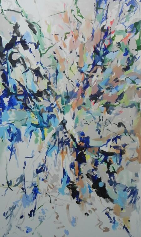 """New Painting 1"" June 2015, 207cm x 123.5cm, acrylic on canvas"