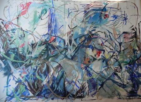 """New Painting 11"" 2015, 82cm x 310cm, acrylic on canvas"