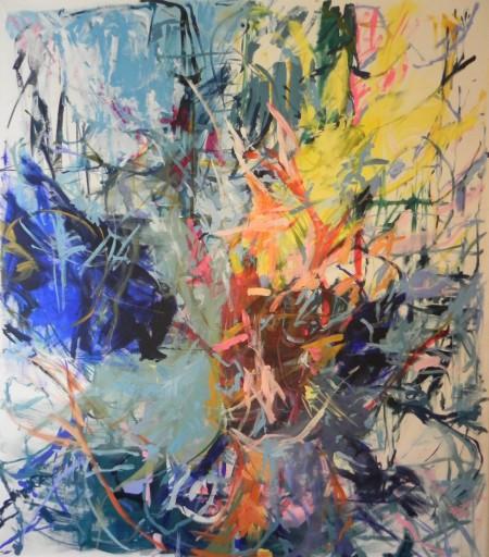 """New Painting 13"" December 2015, 245cm x 215cm, acrylic on canvas"