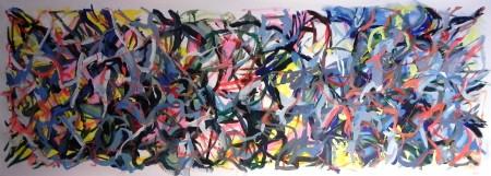 """New Painting 19"" 2015, 74cm x 210cm, acrylic on canvas"