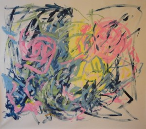 """New Painting 23"", 165cm x 145cm, acrylic on paper"
