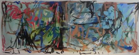 """New Painting 5"" 2015, 85cm x 210cm, acrylic on canvas"
