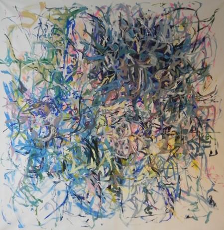 """New Painting 24"" 2016, 210cm x 205cm, acrylic on canvas"