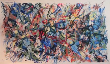 """New Painting 35"" April 2016, 120cm x 210cm, acrylic on canvas"